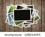 Stack Of Old Photographs At...