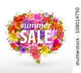 Summer Sale Bubble  Colorful...