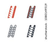 ladder firefight illustration... | Shutterstock . vector #1080149519