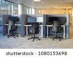 empty office chairs in a row | Shutterstock . vector #1080153698