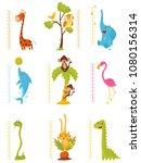 flat vector set of rulers for... | Shutterstock .eps vector #1080156314