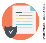 document with shield showing... | Shutterstock .eps vector #1080156818