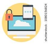 secure network infrastructure... | Shutterstock .eps vector #1080156824