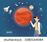man wearing virtual reality...   Shutterstock .eps vector #1080164084