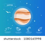 the jupiter infographic in...   Shutterstock .eps vector #1080165998