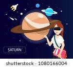 women wearing virtual reality...   Shutterstock .eps vector #1080166004