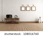 empty vintage interior with old ... | Shutterstock . vector #108016760