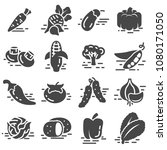 vegetables icon collection  ... | Shutterstock .eps vector #1080171050