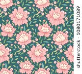 provence style pattern with ... | Shutterstock .eps vector #1080171089