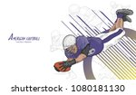 american football background... | Shutterstock .eps vector #1080181130