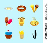 icons about food with maize ... | Shutterstock .eps vector #1080187643