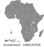 africa map vector outline with... | Shutterstock .eps vector #1080192530