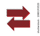 two arrows left right sign.... | Shutterstock .eps vector #1080193520