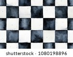 Seamless Watercolor Chessboard...
