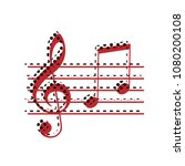 music violin clef sign. g clef... | Shutterstock .eps vector #1080200108