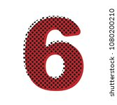 number 6 sign design template... | Shutterstock .eps vector #1080200210