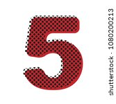 number 5 sign design template... | Shutterstock .eps vector #1080200213