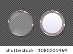 glass plates shapes with copper ... | Shutterstock .eps vector #1080201464