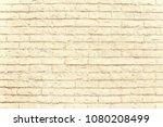 beige brick wall background...   Shutterstock . vector #1080208499