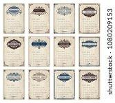 set of vintage frame with... | Shutterstock .eps vector #1080209153