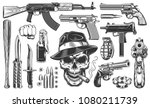mafia and gangsters set of... | Shutterstock .eps vector #1080211739