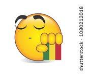 proud bolivian emoji isolated... | Shutterstock .eps vector #1080212018