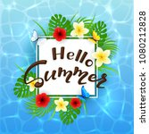 card with lettering hello... | Shutterstock . vector #1080212828