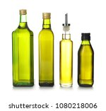 glass bottles with olive oil on ...   Shutterstock . vector #1080218006