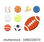 vector cartoon colorful ball... | Shutterstock .eps vector #1080220073