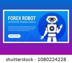 stock exchange trading robot...   Shutterstock .eps vector #1080224228