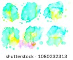 colorful abstract watercolor... | Shutterstock .eps vector #1080232313
