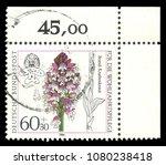 germany   circa 1984  stamp... | Shutterstock . vector #1080238418