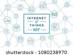 internet of things  iot .... | Shutterstock .eps vector #1080238970