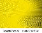 Bright Yellow Black Halftone...