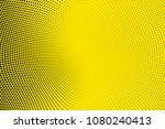 bright yellow black halftone...   Shutterstock .eps vector #1080240413