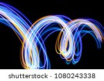 blue and gold light painting ... | Shutterstock . vector #1080243338