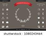 laurel wreath symbol | Shutterstock .eps vector #1080243464