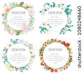 a set of round templates for... | Shutterstock .eps vector #1080248660