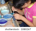 Factory in China Making Cloisonne - stock photo
