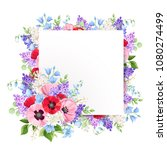 vector greeting card with red ... | Shutterstock .eps vector #1080274499