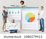 people with various statistics... | Shutterstock . vector #1080279413