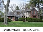 english style house with stone... | Shutterstock . vector #1080279848