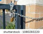 padlock locked gate | Shutterstock . vector #1080283220