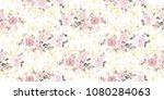 delicate flowery pattern.... | Shutterstock .eps vector #1080284063