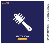 filled comb symbol vector icon...