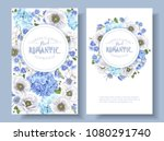 vector botanical banners with... | Shutterstock .eps vector #1080291740