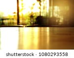 top of wood table with blur... | Shutterstock . vector #1080293558