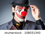 businessman with clown wig and... | Shutterstock . vector #108031340
