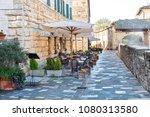 street in bagno vignoni  town... | Shutterstock . vector #1080313580