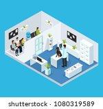 isometric veterinary clinic... | Shutterstock .eps vector #1080319589